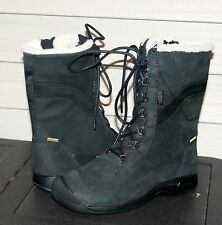 KEEN REISEN WINTER LACE WP US 8 EU 38.5 Woman's Boot Black Leather