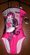 MONSTER High Draculaura Pink Black Bathing Swim Suit size 10/12 NEW Swimsuit NWT