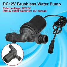 DC 12V Solar Hot Water Circulation Pump Brushless Motor 1/2'' Thread 650L / H 3m