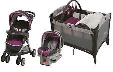 Baby Stroller, Car Seat, Nursery Playard, Travel System, Easy Fast Fold