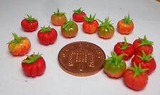 1:12 Scale 10 Of Beefsteak Tomatoes Dolls House Miniature Vegetable