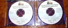 1965 1966 1967 1968 1969 1970 1971 1972 Mercury Lincoln Parts Catalog on CDs