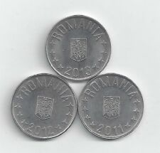 3 DIFFERENT 10 BANI COINS from ROMANIA (2011, 2012 & 2013)