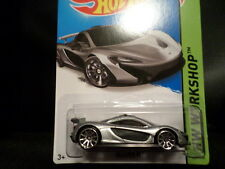 HW HOT WHEELS 2015 HW WORKSHOP #223/250 MCLAREN P1 HOTWHEELS SILVER MUST HAVE