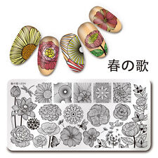 1Pc Rectangle Stamping Plate Line Flower Pattern Nail Art Image Plate Harunouta