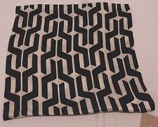 """West Elm Nightshade Silk Stacked Geo 18"""" Pillow Cover"""