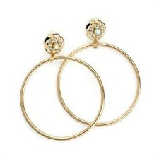 DANGLING hoop DIAMANTE EARRINGS DROP GOLD TONE CRYSTAL BRIDAL 30281