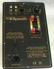Klipsch RP-3 Powered Subwoofer Amplifier Plate Repair Service
