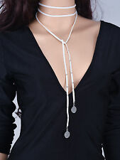 New Women Fashion Jewelry Gothic Velvet Choker Coin Pendant Long Necklace
