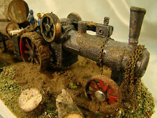 Logging Steam Tractor Diorama- custom weathered, hand crafted - lot 9 - HO scale