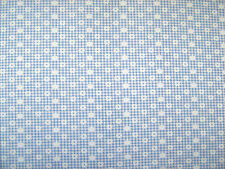 Daisy Gingham Check Blue Polycotton Prints Dress Fabric SOLD PER METRE
