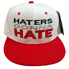 HATERS GONNA HATE Embroidered Snapback Cap