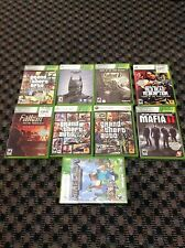 Microsoft Xbox 360 video game bundle with lot of 9 games!!!