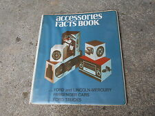 1970's FORD DEALERSHIP ACCESSORIES FACTS BOOK DEALERSHIP ALBUM BINDER ALONE