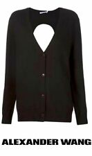 New Genuine T by Alexander Wang Black Merino Wool Cut-out Cardigan XS Petite