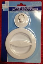 "Drain Stoppers 2 Assorted Sizes 2"" &  4"" SINK BATH BATHTUB BASIN LAUNDRY STOP"