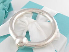 New Tiffany & Co Silver 1837 Circle Rattle Box Pouch Card