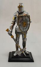 Stunning Hand Painted Medieval Knight with Axe & Shield Statue/Figurine/Figure