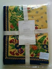NWT Williams Sonoma Nappe Provence Tablecloth 70x90 Yellow Floral Fruits
