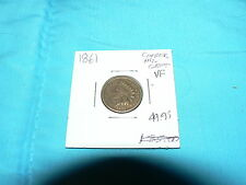 1861 Indian Head Cent Copper Nickel Antique Vintage Coin XF+ Penny