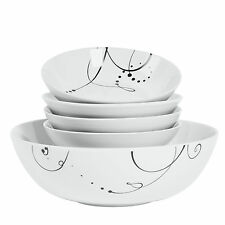 Pescara 5-piece Porcelain Round Pasta Set