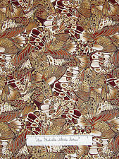Timeless Treasures - Shimmer Fabric Packed Butterfly Wings Rust Metallic /Yd