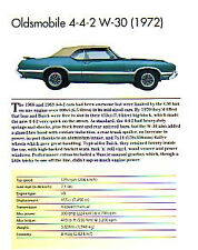 1972 Oldsmobile 442 Convertible W-30 Article - Must See !!