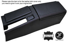 BLACK STICH CENTRE CONSOLE & ARMREST LEATHER COVERS FOR HONDA CRX DEL SOL 92-98