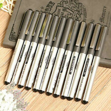 12pcs Black 0.5mm Signing Roller Ball Ballpoint Pen Gel Liquid Ink Stationery