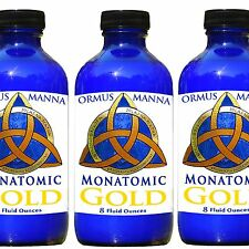 3 PACK!! ORMUS MANNA ॐ Monatomic Gold  ~ Anti-Aging ENERGY Booster Supplement A+