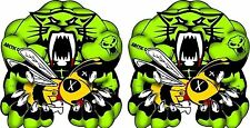 "Team ArcticCat MUSCLE 12"" / PAIR / snowmobile logo decal / vinyl sticker graphic"