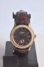Rotary Ladies Rose Gold Brown Dial Leather Strap Watch LS02907/16~RRP £160 ~NEW