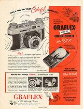1943 WW2 era photography  AD GRAFLEX Ciro 35 mm Camera Color Outfit 122915