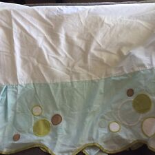 Migi Baby Crib Skirt Dust Ruffle Fish Bubbles Splash Unisex Boy Girl Blue Green