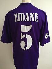 REAL MADRID 2002/2003 CENTENARY Football Shirt PURPLE 3RD AWAY #5 ZIDANE Large