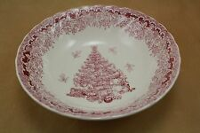 Queens China - SEASONS GREETINGS - Pink Soup / Cereal Bowl
