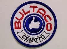 VINTAGE BULTACO MOTORCYLES EMBROIDERED PATCH WOVEN CLOTH BADGE SEW-ON CEMOTO NOS