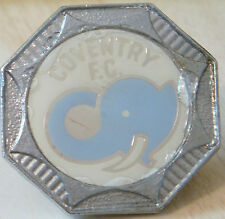 COVENTRY CITY Vintage 1970s 80s insert type badge Brooch pin Chrome 31mm x 31mm