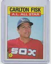 (2) 1986 Topps 'A. L. All Star' #719 - CARLTON FISK  - Lot of 2 cards