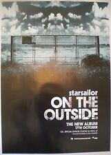 STARSAILOR ON THE OUTSIDE RARE ORIGINAL RECORD COMPANY ADVERTISING POSTER