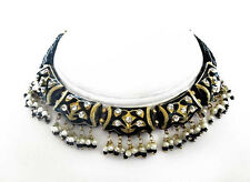 Black Indian Lakh Necklace Set. Handcrafted, Chic & Fashionable Jewelry