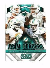 2015 Score, Dolphins, Team Leaders, Ryan Tannehill, Football Card !!