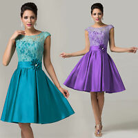 ❤TOP VINTAGE❤ Knee-Length Evening Bridesmaid Cocktail Ball Gown Party Prom Dress