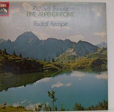 """STRAUSS EINE ALPENSINFONIE RUDOLF KEMPE STAATSKAPELLE DRESDEN 12"""" LP (d851)"""