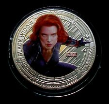 "NEW ZEALAND 2015 SILVER PLATE MARVEL THE AVENGERS ""BLACK WIDOW"" COIN"