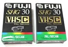 FUJI 30SHG (Super High Grade) VHS-C TAPE / CASSETTE PAL SECAM Lot OF 2