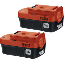 BLACK+DECKER HPB18-OPE2 BATTERY PACK, 18 Volt NiCd 2 Pack BATTERY Free Shipping