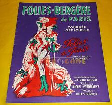 FOLIES-BERGERE DE PARIS - Tournée Oficielle