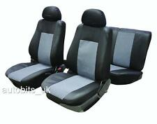 VW CADDY MAXI LIFE GREY BLACK LEATHER LOOK FULL CAR SEAT COVER SET