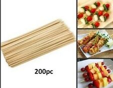 New 200 X Bamboo Wooden BBQ Grill Kebab Meat Vegetable Skewers Sticks Barbecue
